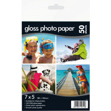 "Gloss Photo Paper 7""x5"" 160gsm 50 Sheets"
