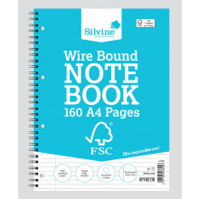 FSC A4 Twinwire Notebook F/Margin 160pg