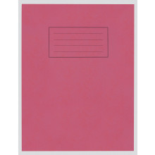 "Silvine Red Exercise Book 9""x7"" 80pgs"
