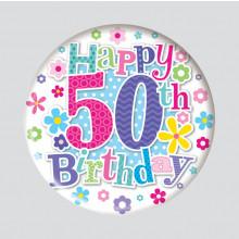 Age 50 Female 150mm Large Badge