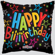 Foil Balloons Happy Birthday Black Star