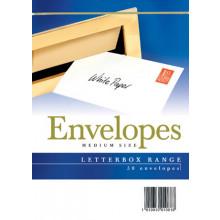 Envelopes Letterbox Medium White 50s
