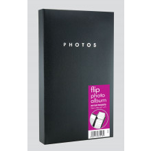"Flip Photo Album Black 6x4"" 40 Pocket"