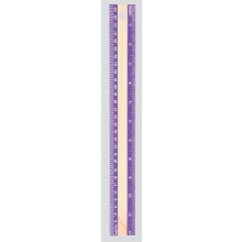 Wooden Ruler 30cm Assorted