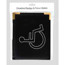 S9609 Disabled Badge Wallet Black