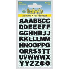 Labels - Black Vinyl Letters 9.5mm