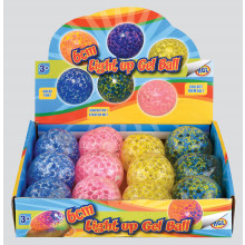 "Light Up Gel Balls 6cm/2.25"" Assorted"