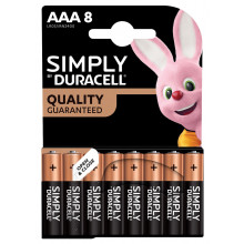 Simply Duracell AAA Batteries 8's