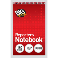 Club Reporters Notebooks Big Value 160pg