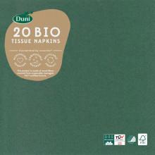 Duni Bio Dark Green Napkins 33cm 3Pl 20s