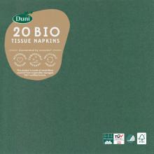 XD05705 Bio Napkins 33cm 3 Ply Dk Green
