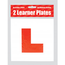 Red L Plates Magnetic 2s