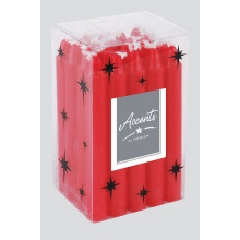 XD05617 Ivory/Red Mini Candle