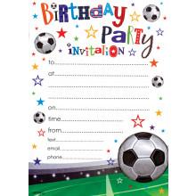 Invitation Pads Football 20s HP104