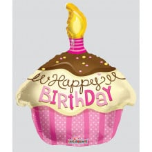 Foil Balloons Birthday Candle Pink