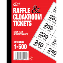 S3005 Cloakroom Tickets 1-500 (CLUB)