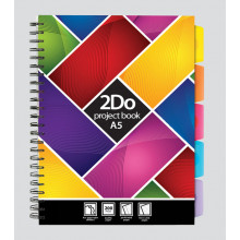A5 2Do Feint Project Book 200 Pages