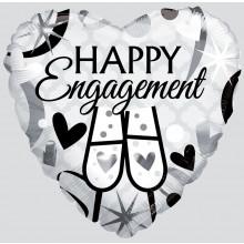 Engagement Heart Foil Balloon
