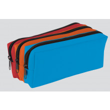 Tri-Colour Pencil Case Triple Pocket