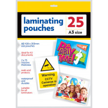S4707 A3 Laminating Pouches Pk25