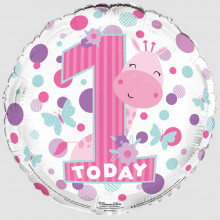 Foil Balloon Age 1 Girl