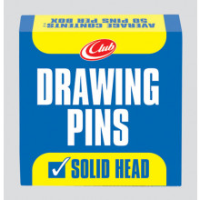 Solid Head Drawing Pins 50s