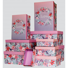 X2312 Nest 10 Wreath Gift Boxes