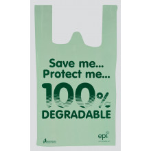 "Degradable Shopping Bags 12x19x23"" 100s"