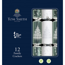 12x31cm Silver & White Crackers
