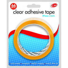 Clear Tape 19mmx66m Carded