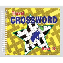 Travel Crossword Book 180 Pages 4 Asstd