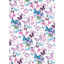 Flat Gift Wrap Butterflies GW2548