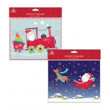 X1603 Cute Santa Advent Calendar