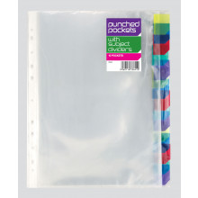 A4 Punched Poly Pockets w/ Dividers 10s