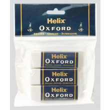 Helix Oxford Erasers Pack 3