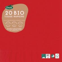 XD05703 Bio Napkins 33cm 3 Ply Red