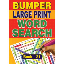 A4 Bumper Large Print Word Search 2 Asst