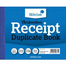 Silvine Carbonless Dupl. Receipt Book