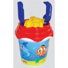 Fish Design Bucket Set 5pcs 17cm/6.5cm
