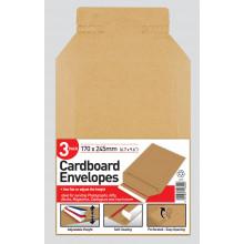 Pack 3 Cardboard Envelopes 170x245mm
