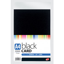 A4 Black Card 6 Sheets 270gsm