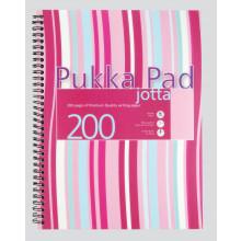 Pink/Blue A4 Pukka Jotta Notebook 200pgs