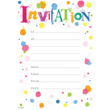 Invitation Pads Spots 20s HP115