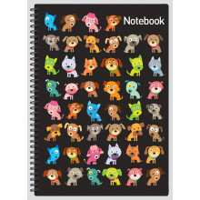 A4 Notebook Cats & Dogs 144 Pages
