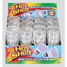 Hot Shots Shuttlecocks Tube of 4