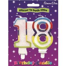 Simon Elvin Age 18 Milestone Candle