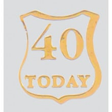 Roman Labels Gold Shield 40 Today