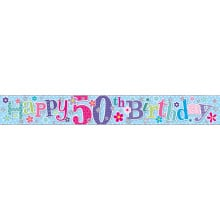2.5m Party Banner Age 50 Female