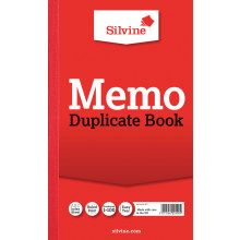 Silvine Duplicate Memo Book Feint 601