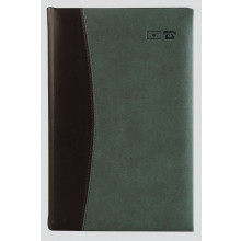 Large Soft Feel Address Book Tan/Blk Ast